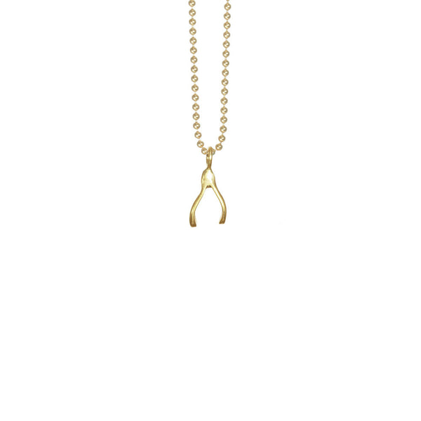 Mini Wishbone Necklace