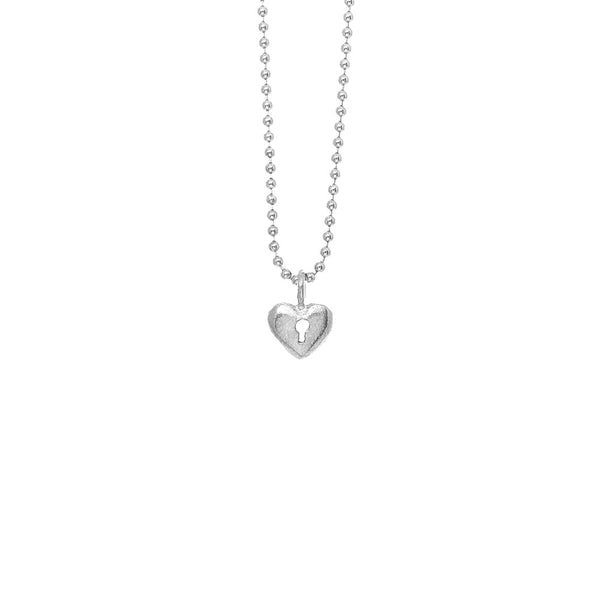 Mini Heart with Keyhole Necklace