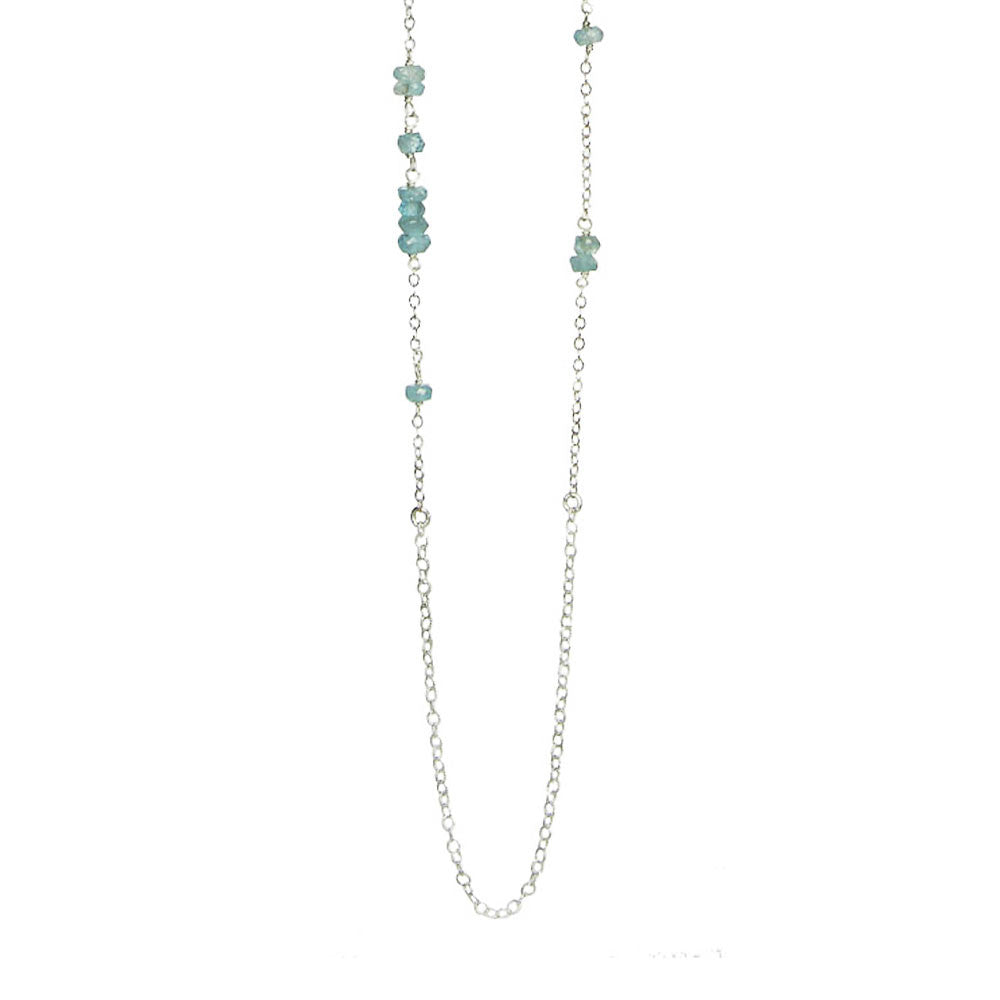 Long Gemstone Chain Necklace