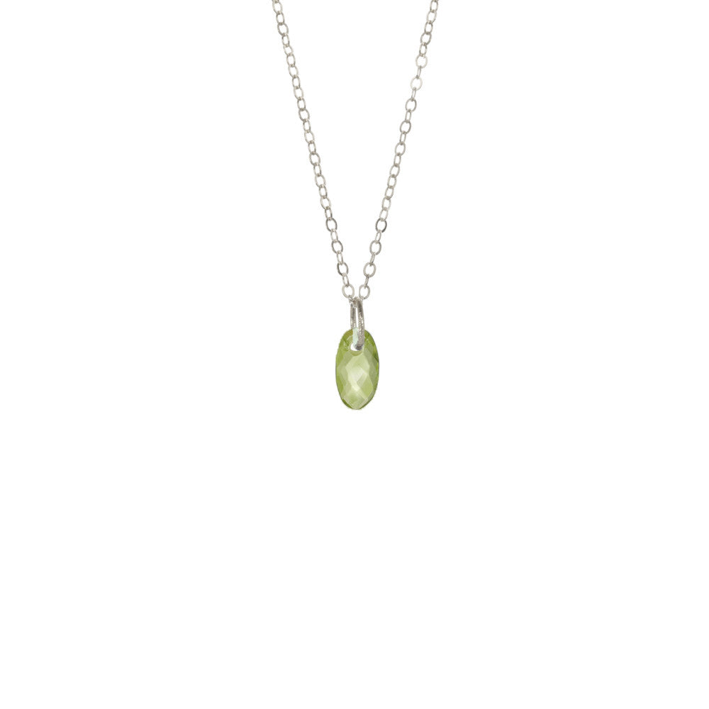 Oval Gemstone Necklace