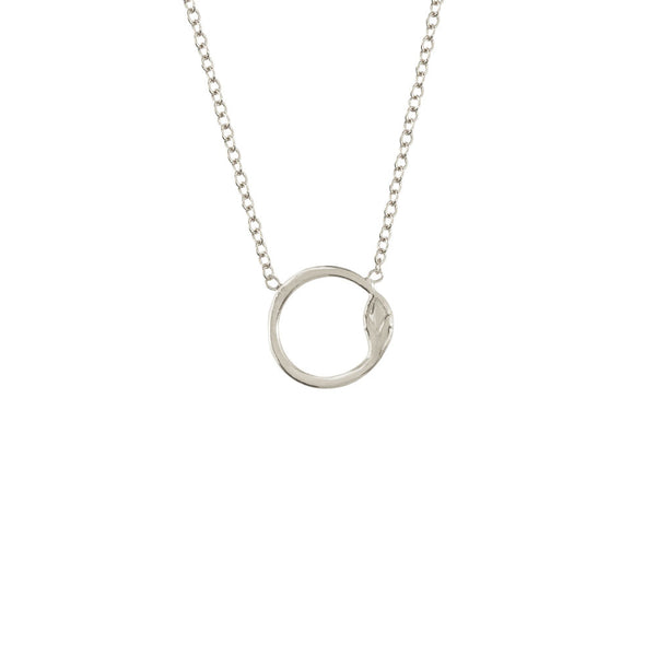 Mini Snake Circle Necklace