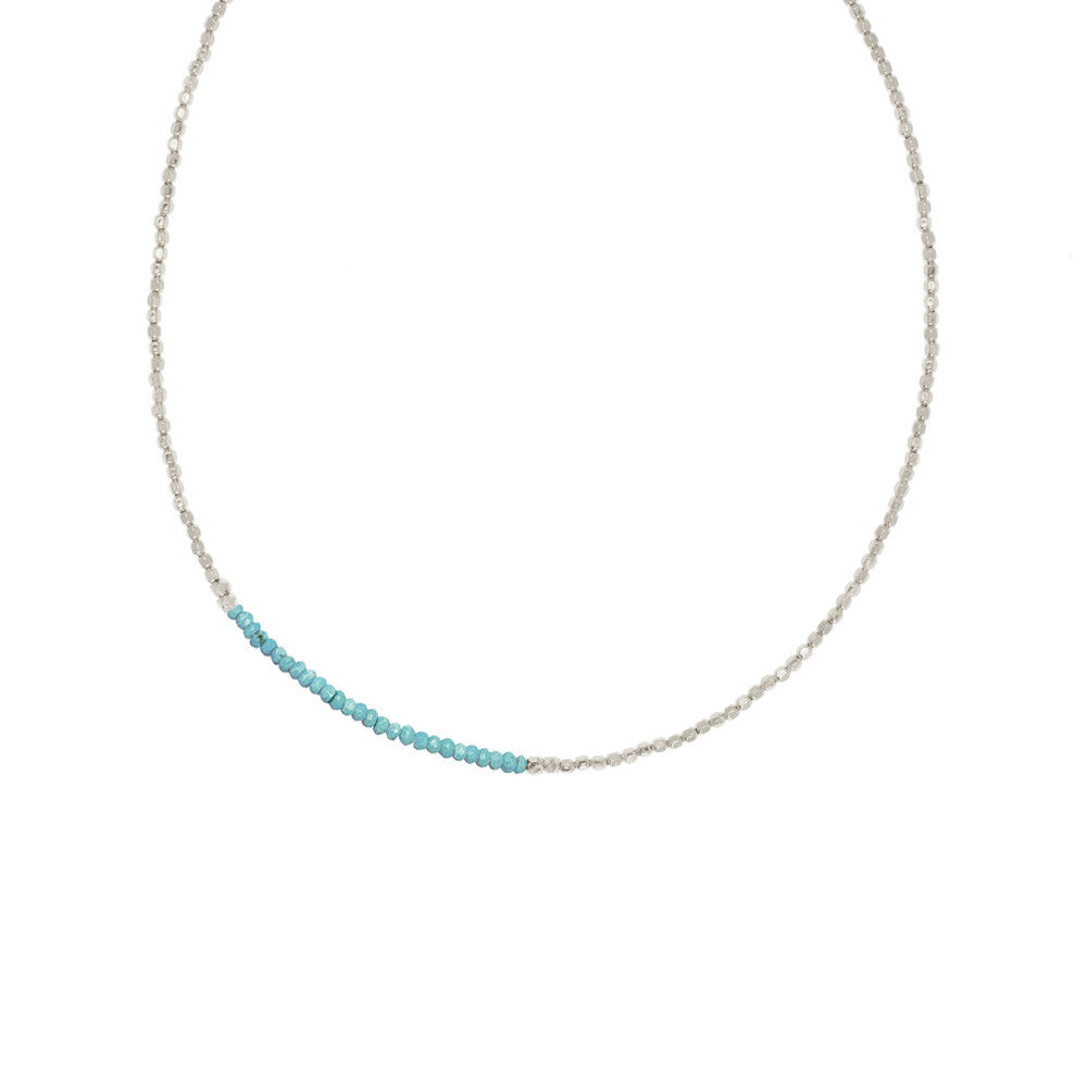 Gemstone Fade Necklace - Turquoise and Sterling Silver