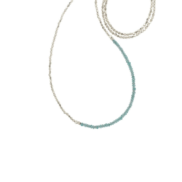 Faceted Aqua Gemstone Necklace