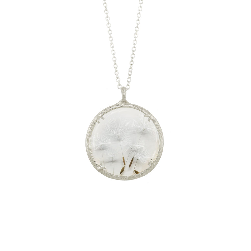 Large Dandelion Seed Necklace