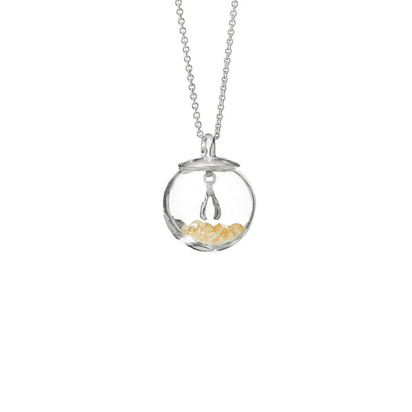 Gemstone Globe Necklace - Wish