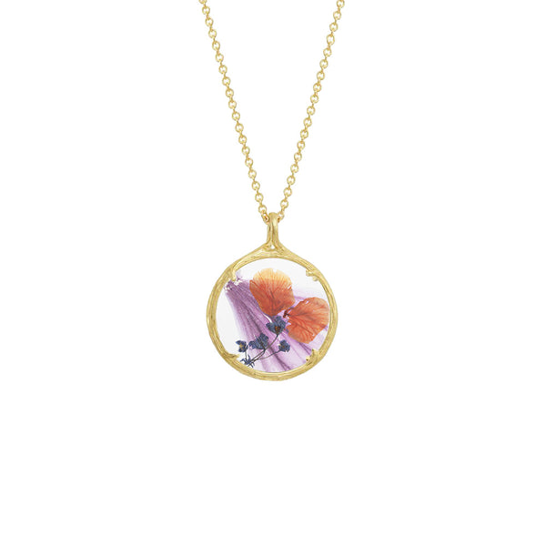 Small Winter Botanical Necklace