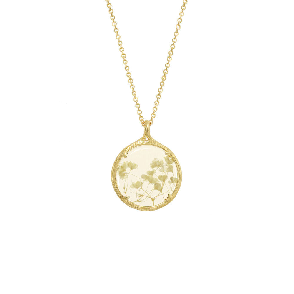Catherine Weitzman Babys breath botanical necklace