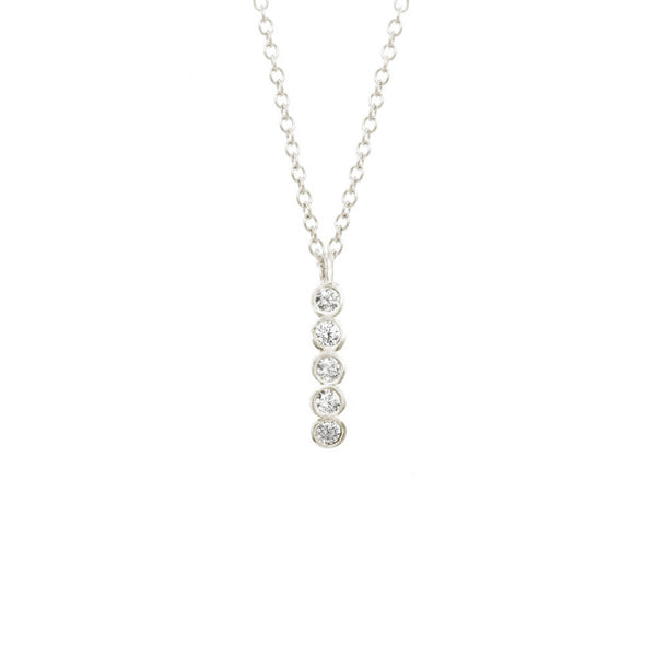 Long Seed Pod Solitaire Necklace