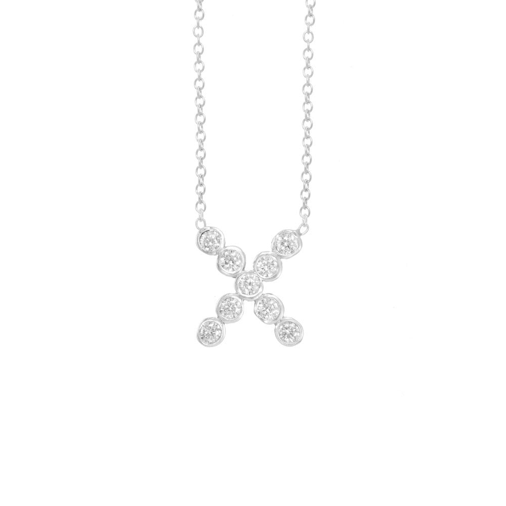 "Seed Pod Solitaire ""X"" Necklace"