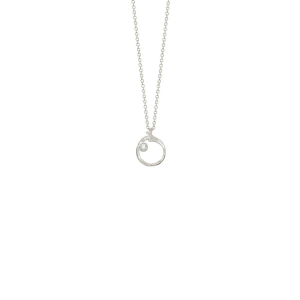 Branch Circle Seed Pod Solitaire Necklace