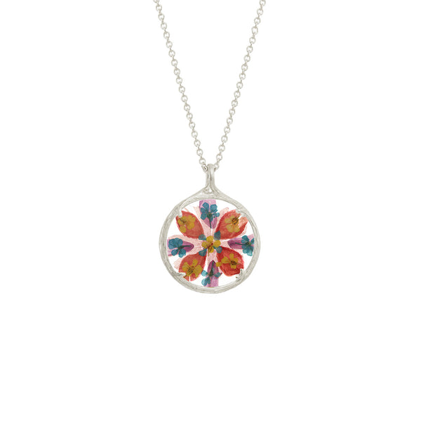 Small Flower Mandala Necklace