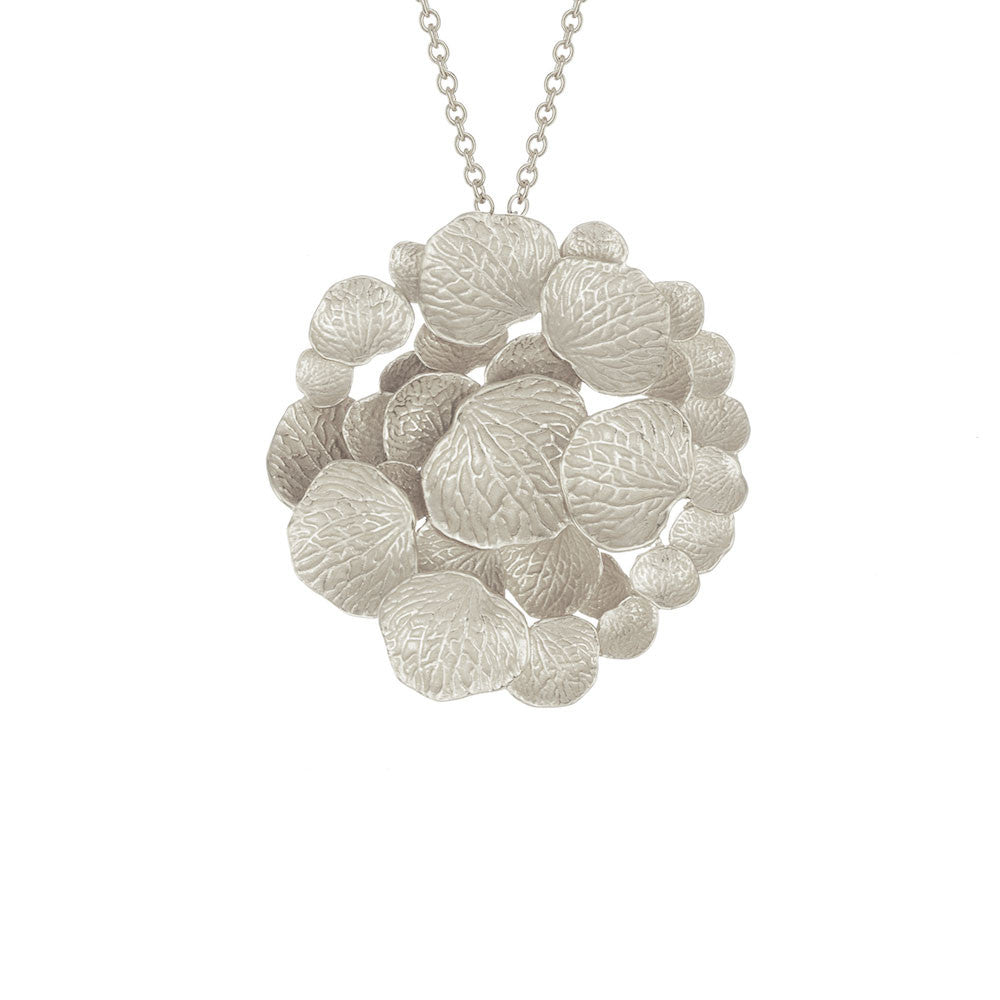 Round Petal Cluster Necklace