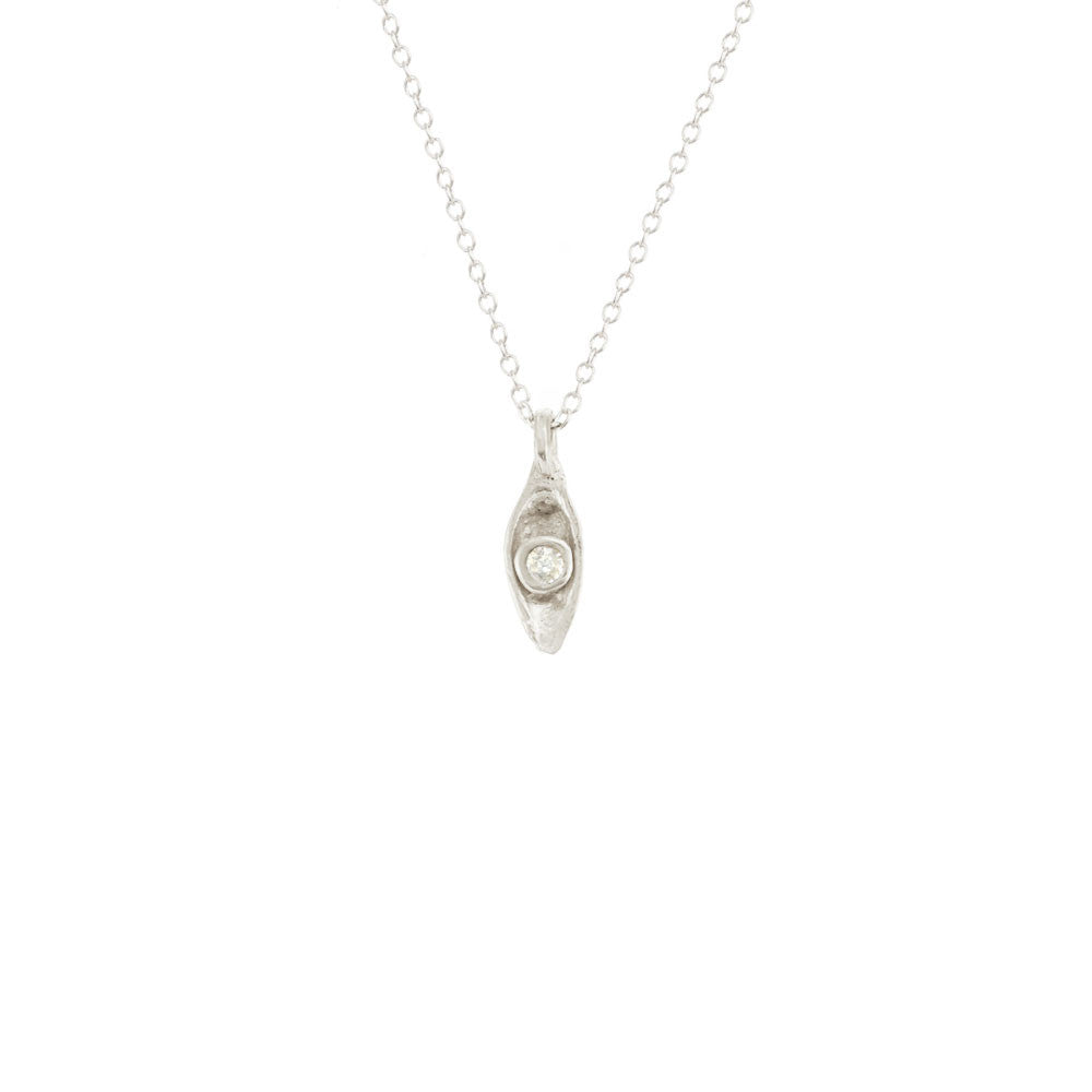 Solitaire Pod Necklace