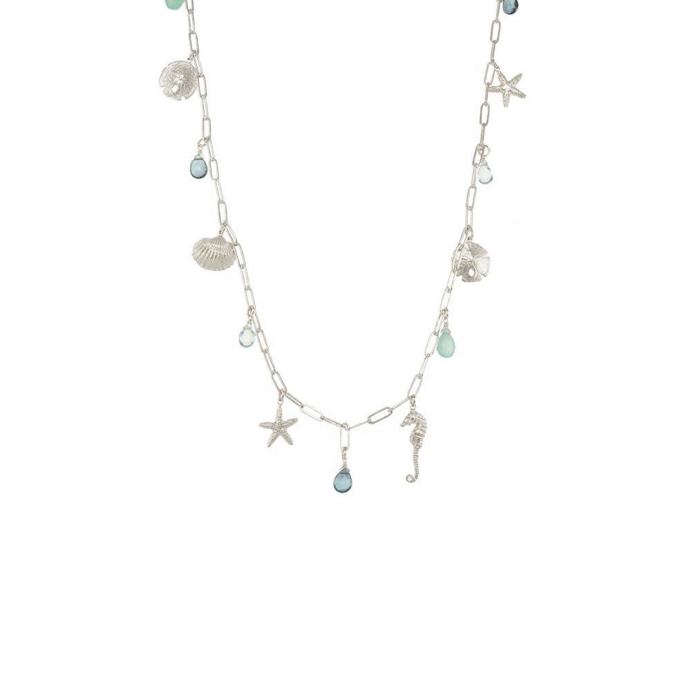 Long Sealife Charm Necklace