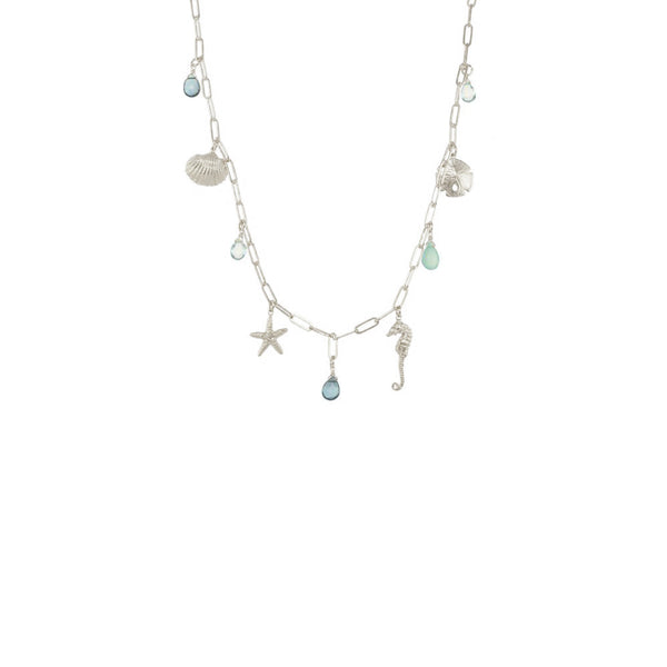 Short Sealife Charm Necklace