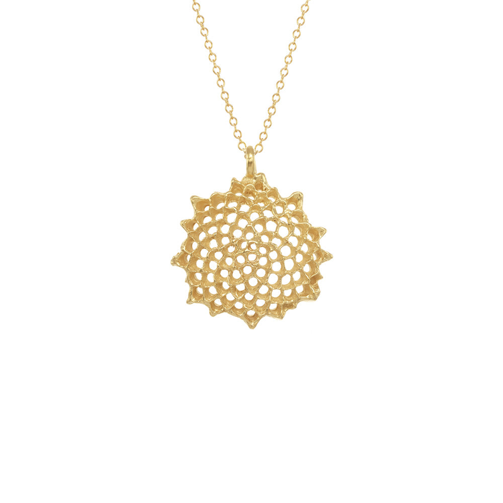 Large open sunflower necklace aloadofball Image collections
