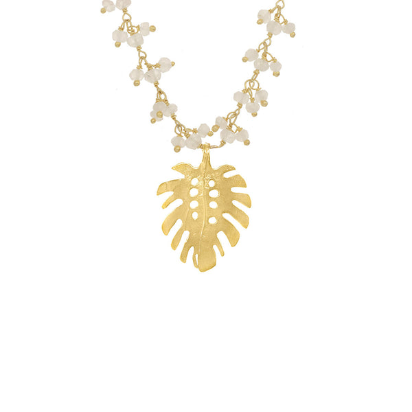 Medium Monstera Cluster Necklace
