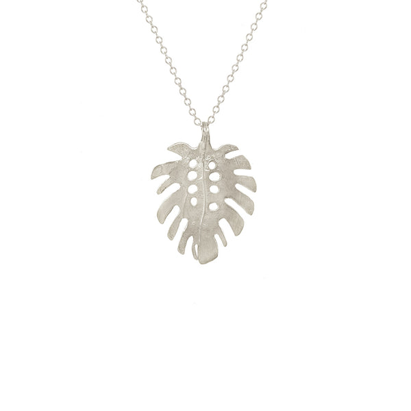 Medium Monstera Necklace