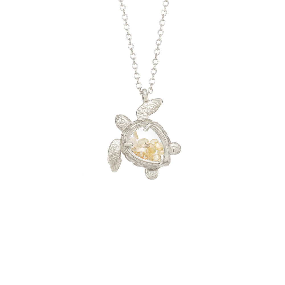 Sea Turtle Shaker Necklace