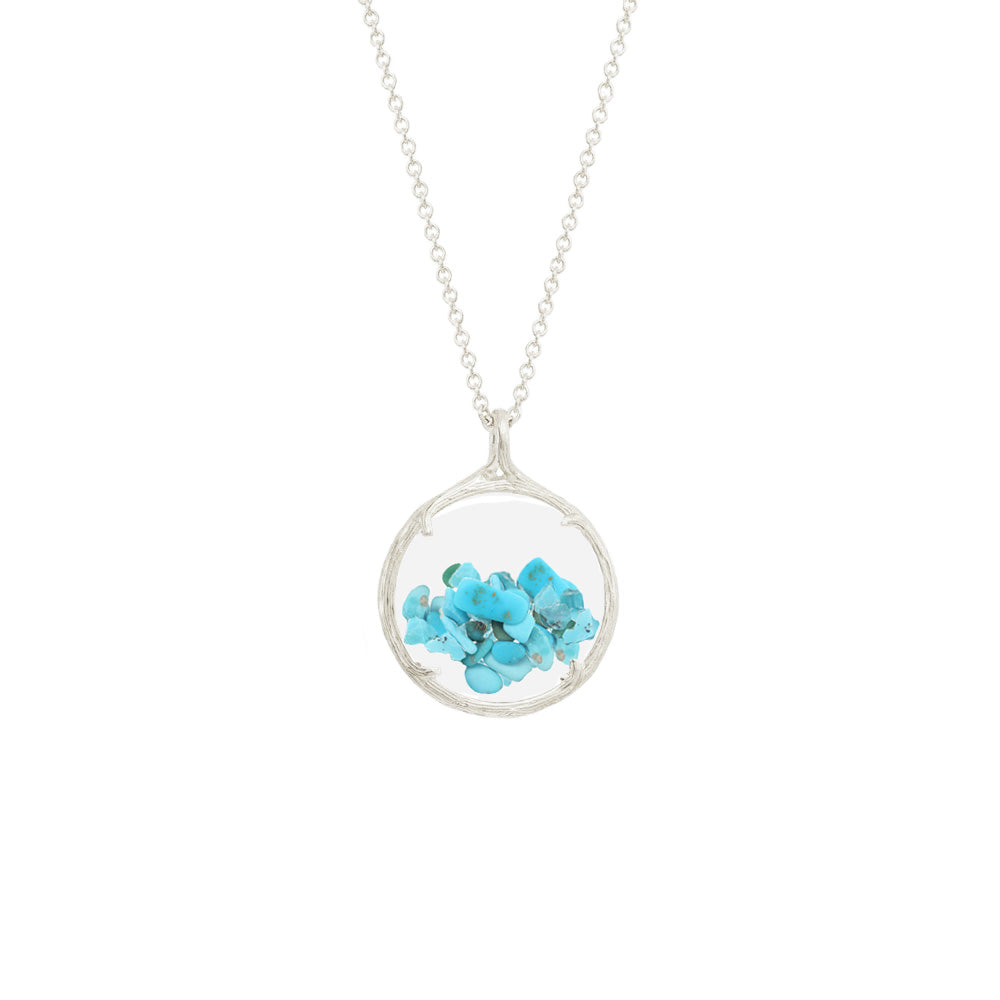 Small Shaker Birthstone Necklace