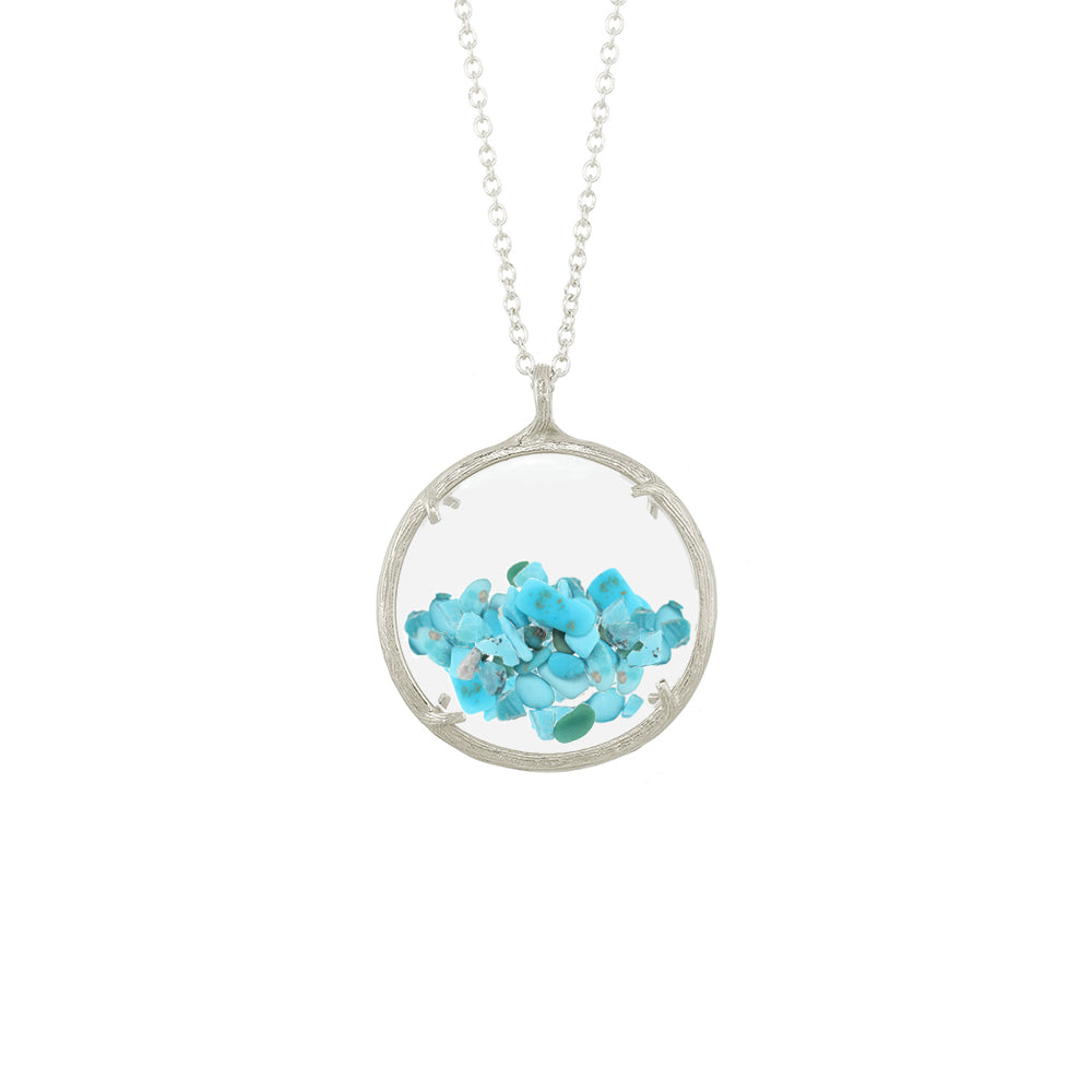 Large Shaker Birthstone Necklace