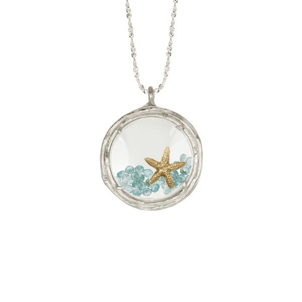 Large Glass Branch Locket