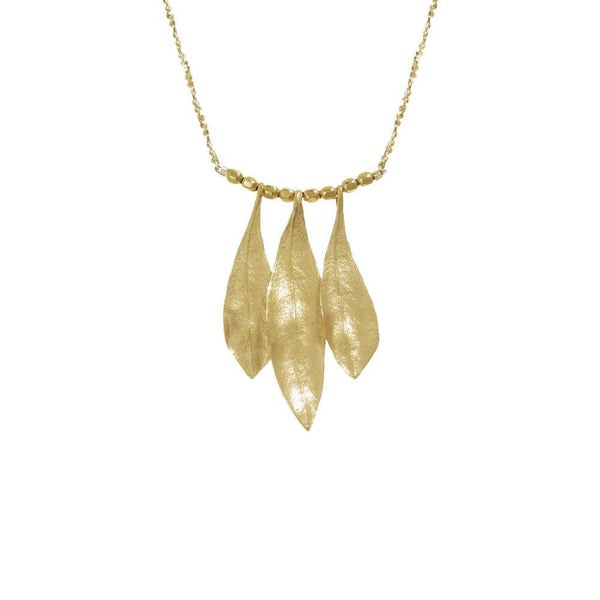 Triple Olive Leaf Necklace