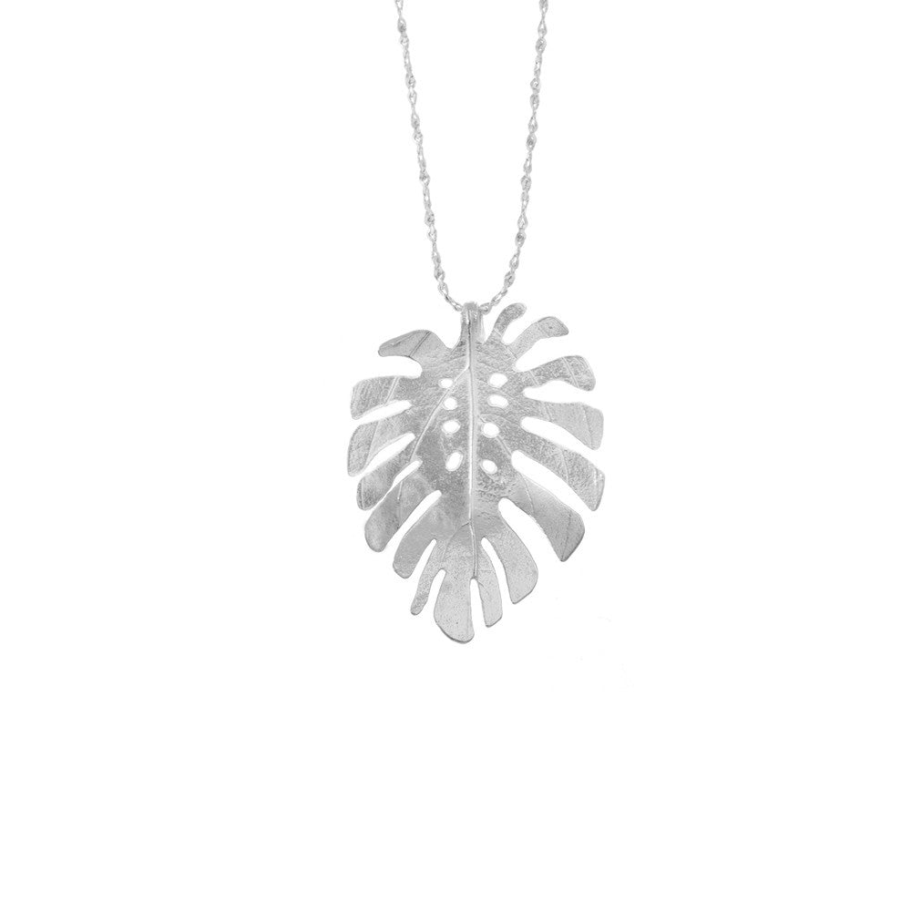 Large Monstera Leaf necklace