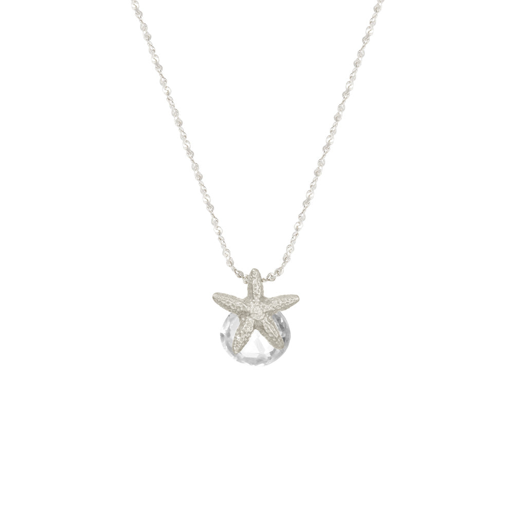 Small Starfish with Heart-Shaped Stone Necklace