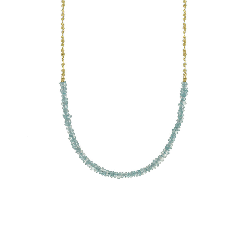 Long Gemstone Rondelle Necklace - Selected Gold Styles