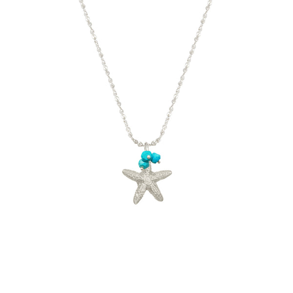 Small Starfish with Stones Necklace