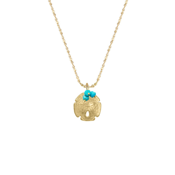 Small Sand Dollar with Stones Necklace