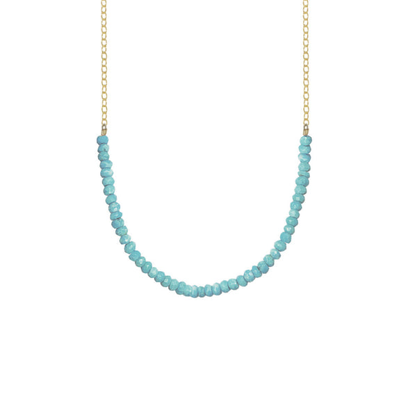 Gemstone Rondelle Necklace