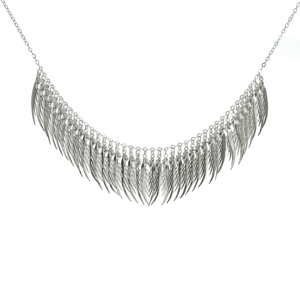 Full Feather Drape Necklace