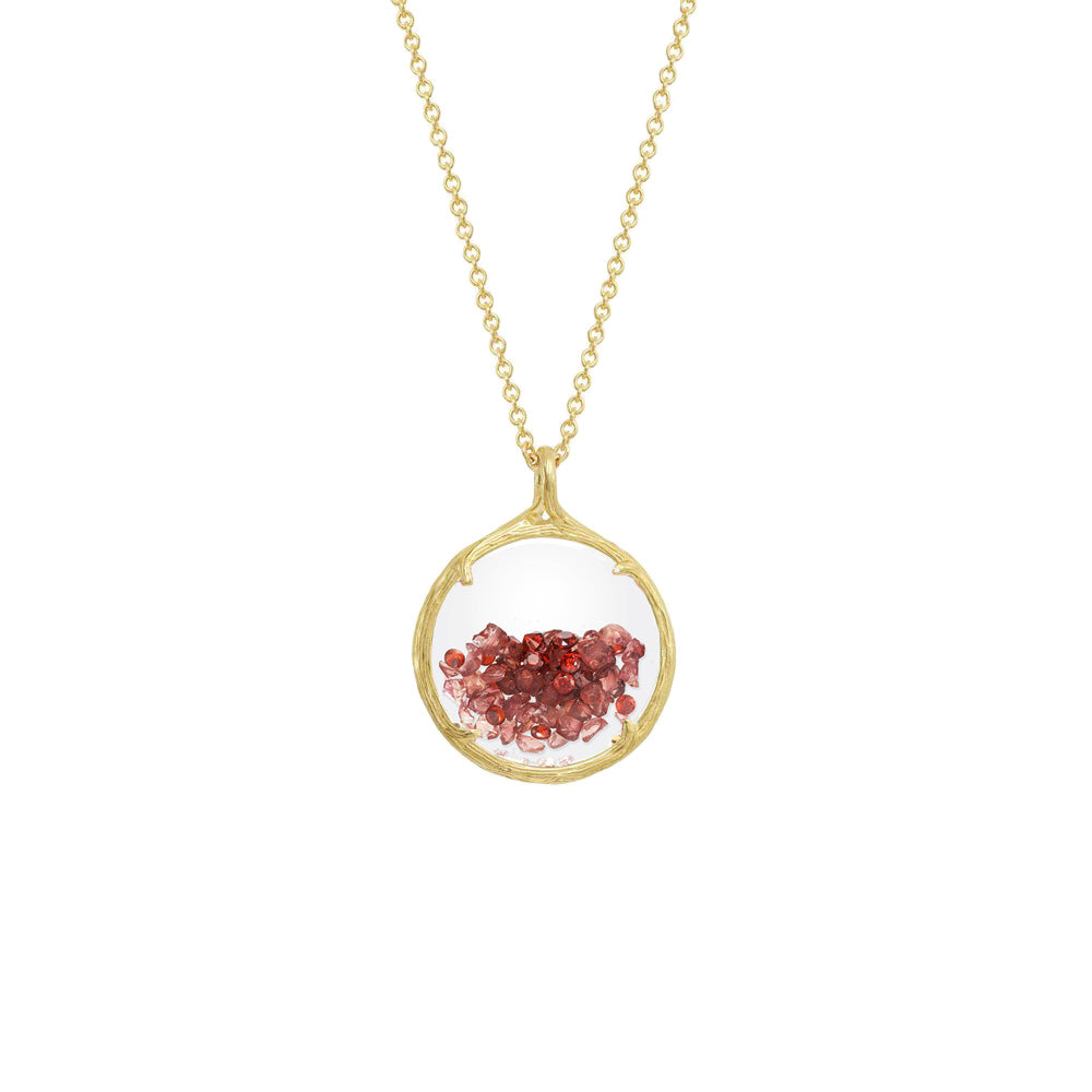 Catherine Weitzman Shaker Birthstone Pendant Necklace, January