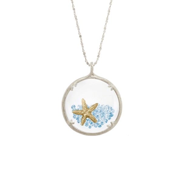 Large Shaker Necklace with Starfish