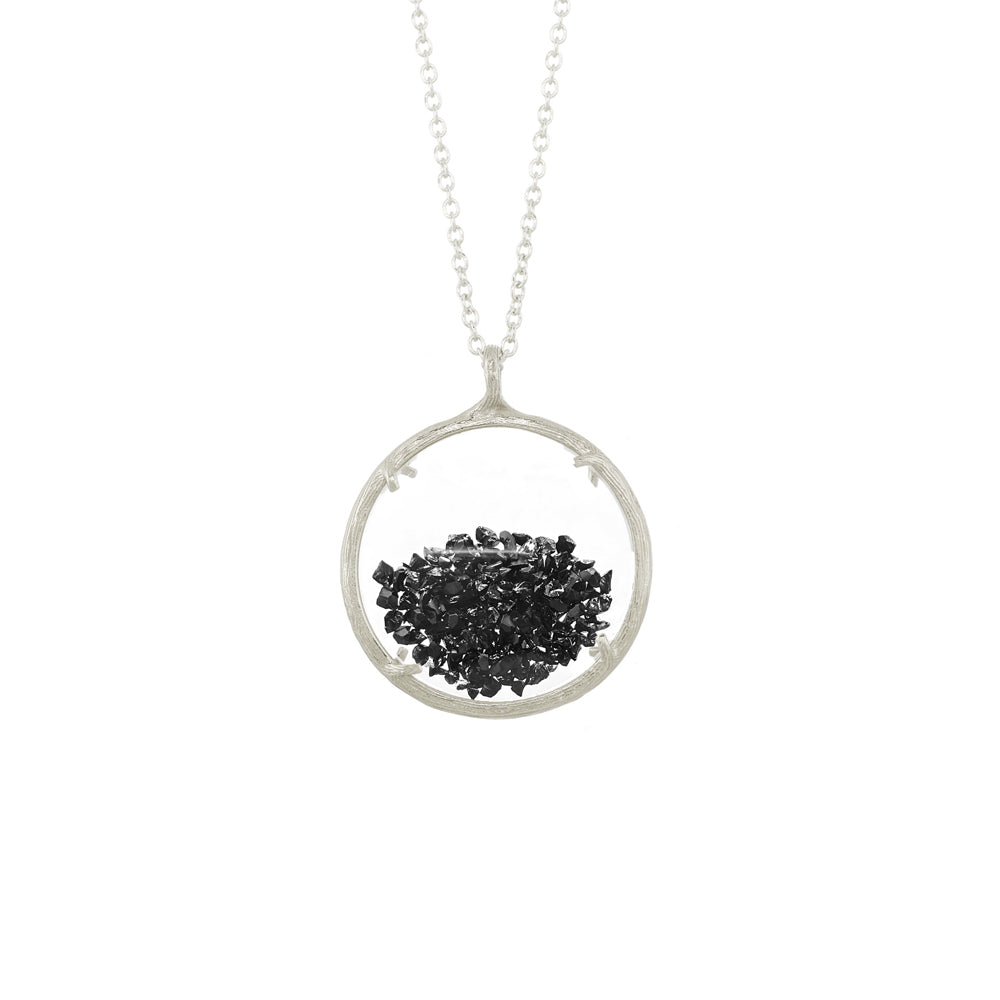 Large Shaker Necklace in Black Spinel