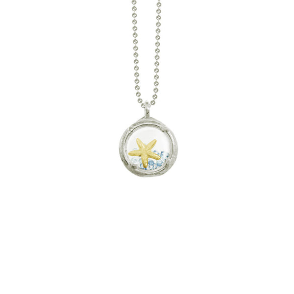 Mini Shaker Necklace with Starfish