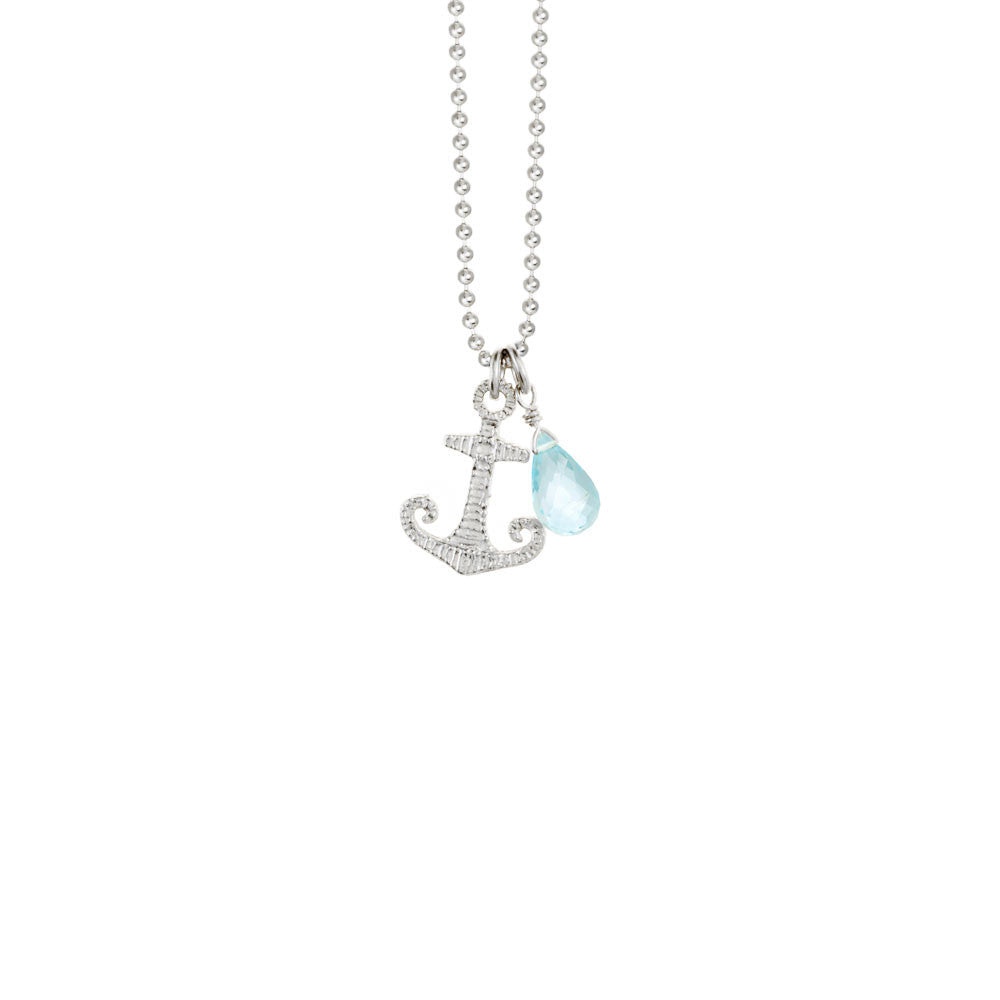 Anchor Necklace with Briolette