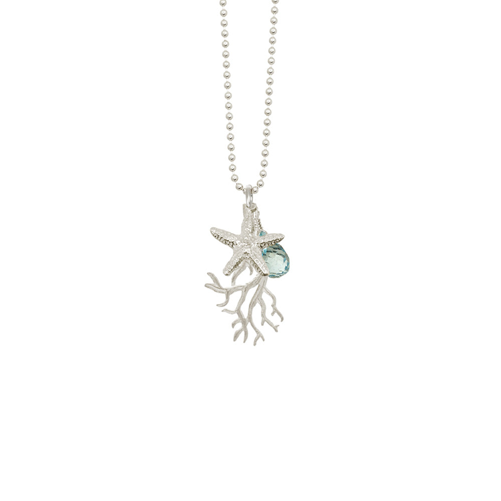 Seagrass with Starfish and Stone Necklace