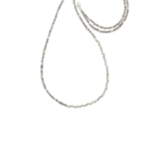 Long Reverse Gemstone Fade Necklace - Select Silver Styles Only