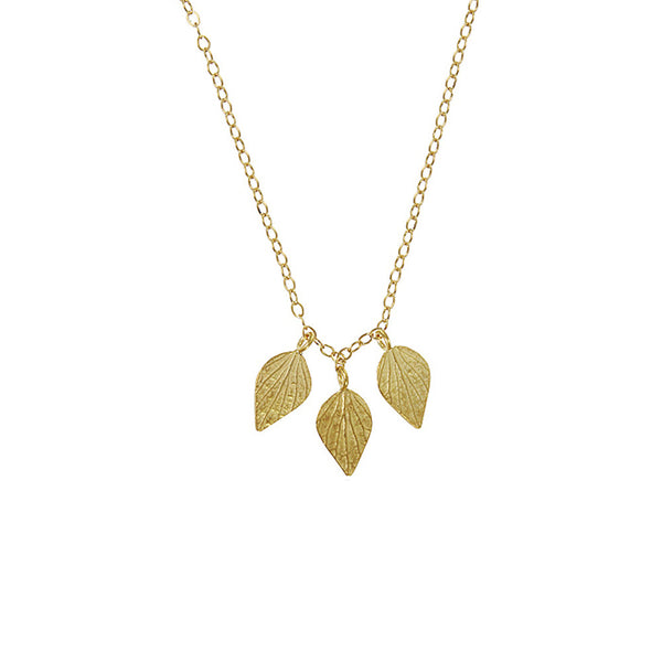 3 Diamond Petal Necklace