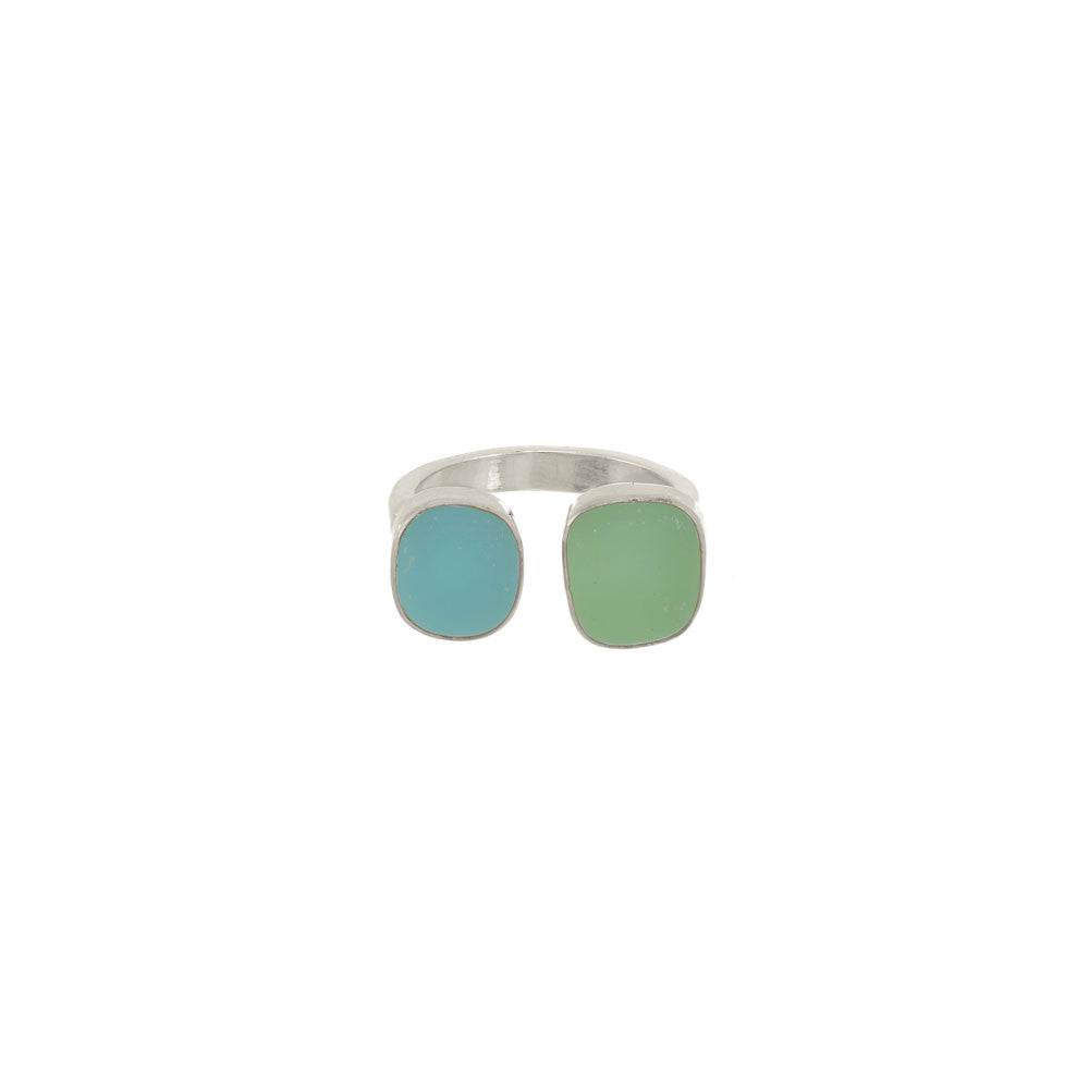 Double Seaglass Ring
