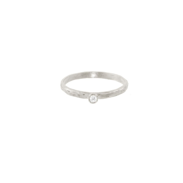 Seed Pod Solitaire Ring