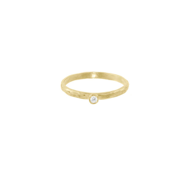 Seed Pod Solitaire Ring - White