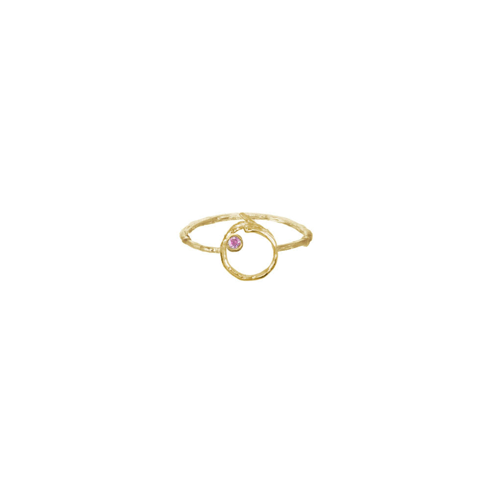 Branch Circle Seed Pod Solitaire Ring