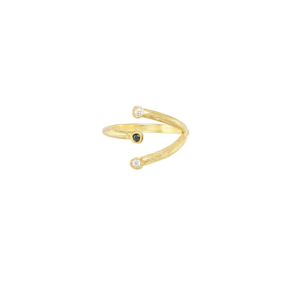 Triple Seed Pod Solitaire Ring