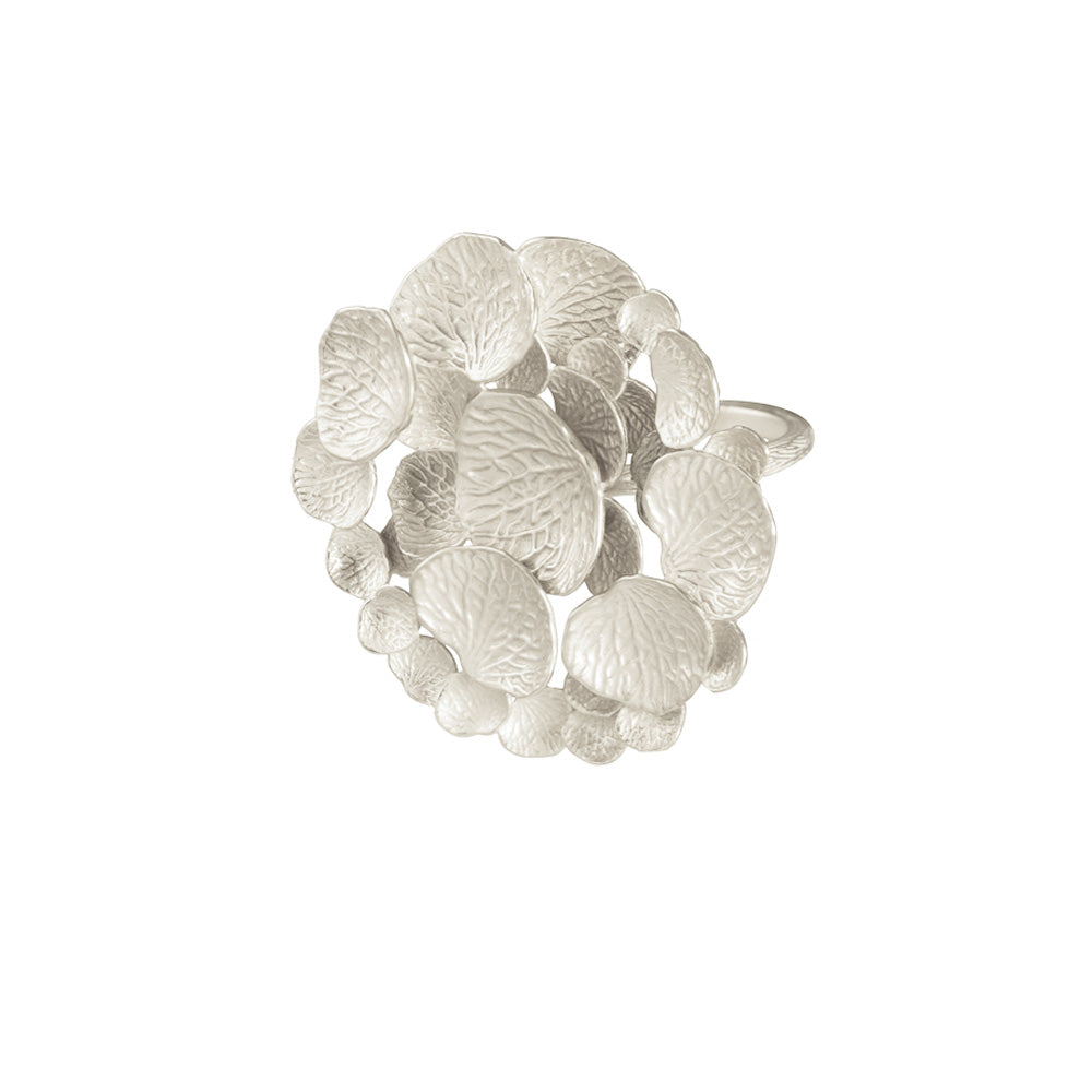 Round Petal Cluster Ring