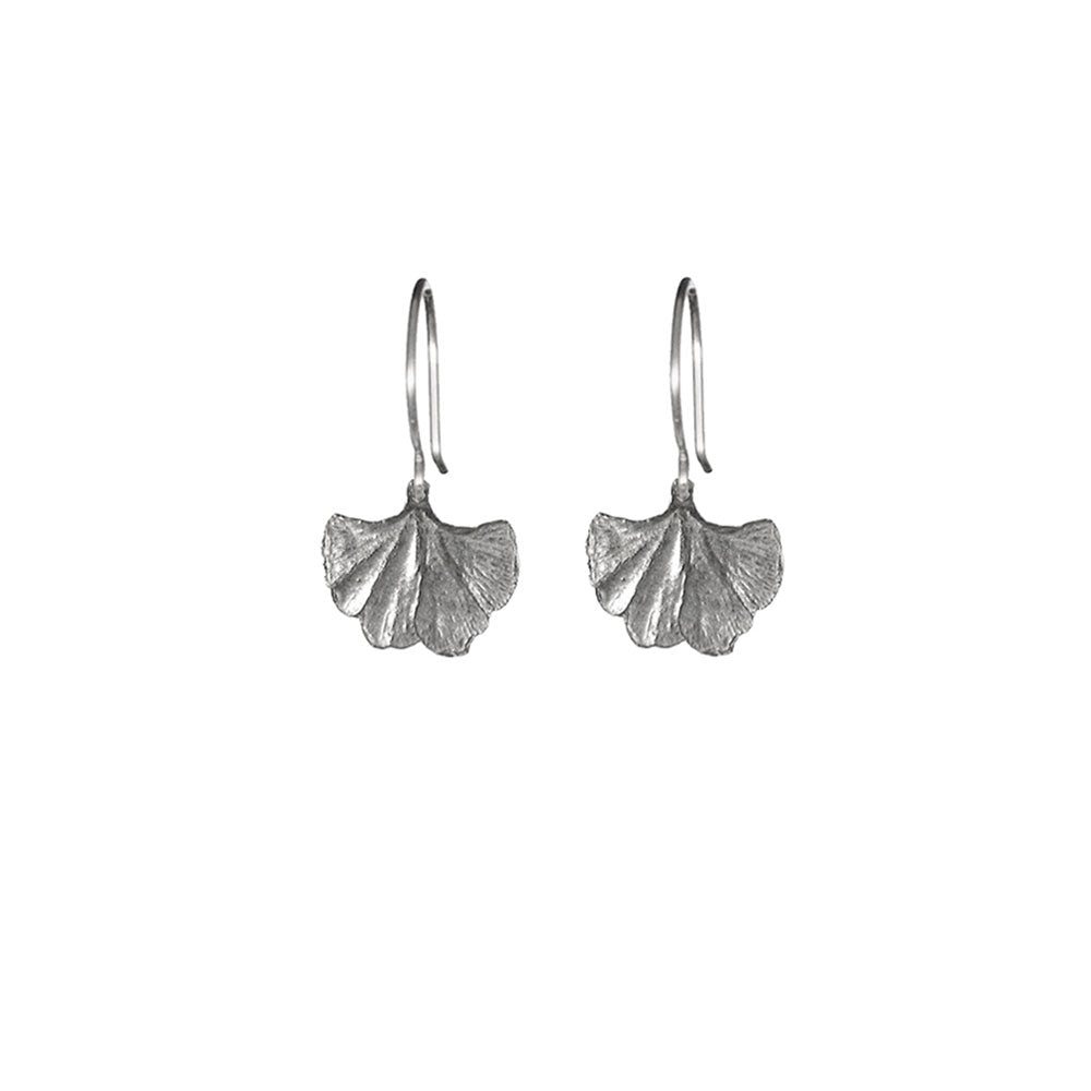 Mini Gingko Fan Earrings