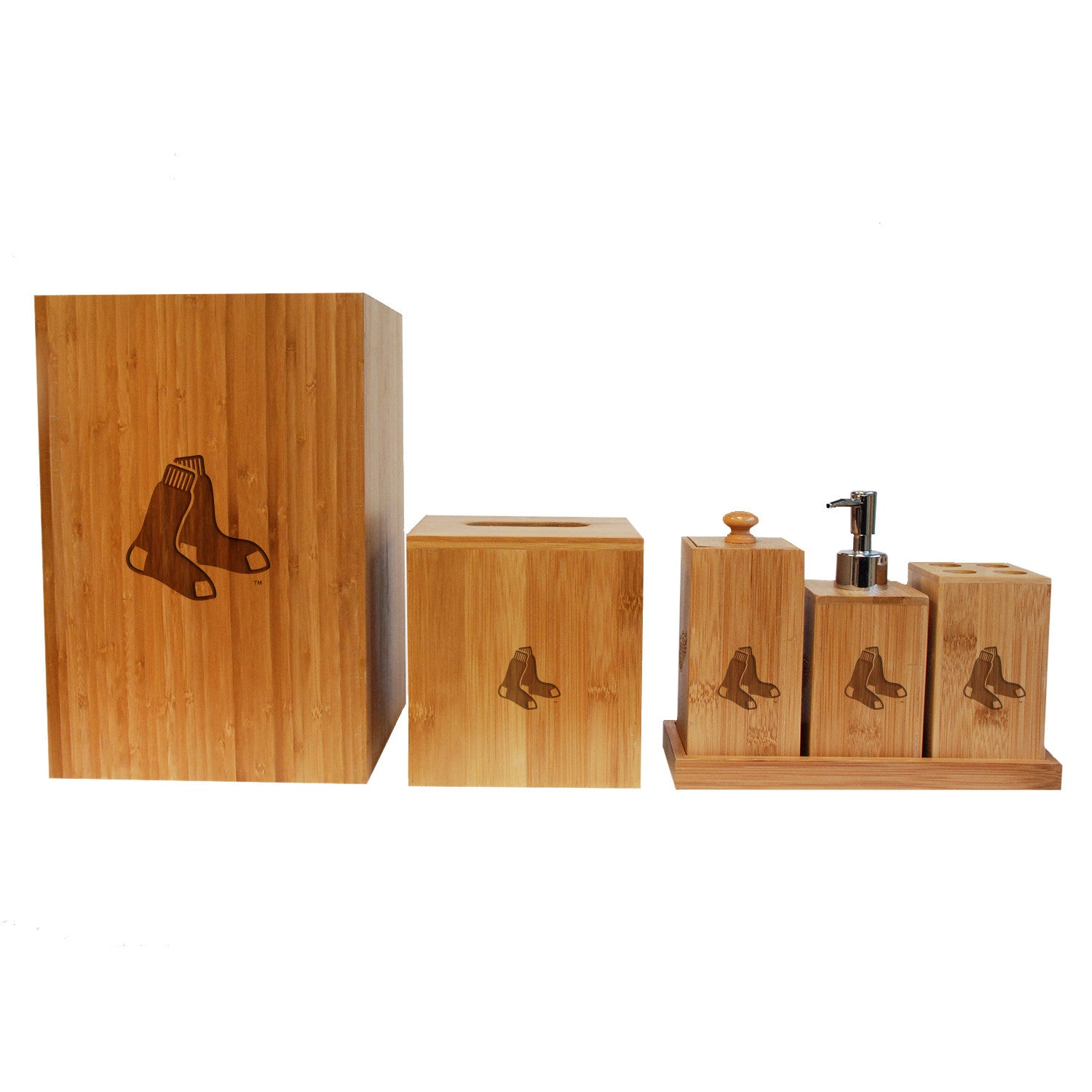 boston red sox bamboo bathroom set | coopersburg